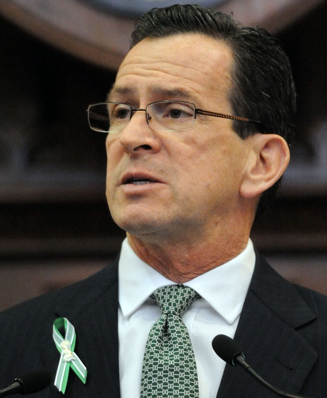 Gov. Dannel P. Malloy delivers his budget address to a joint session of the Connecticut General Assembly Wednesday, Feb. 6, 2013.