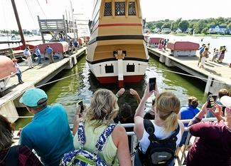 Mayflower II re-launched at Mystic Seaport Museum | September 7. 2019 | 21 Photos