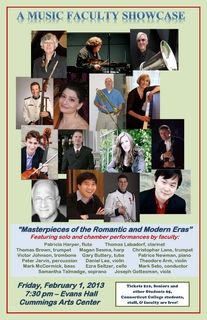 Masterpieces of the Romantic and Modern Eras; Friday, February, 1, 2013