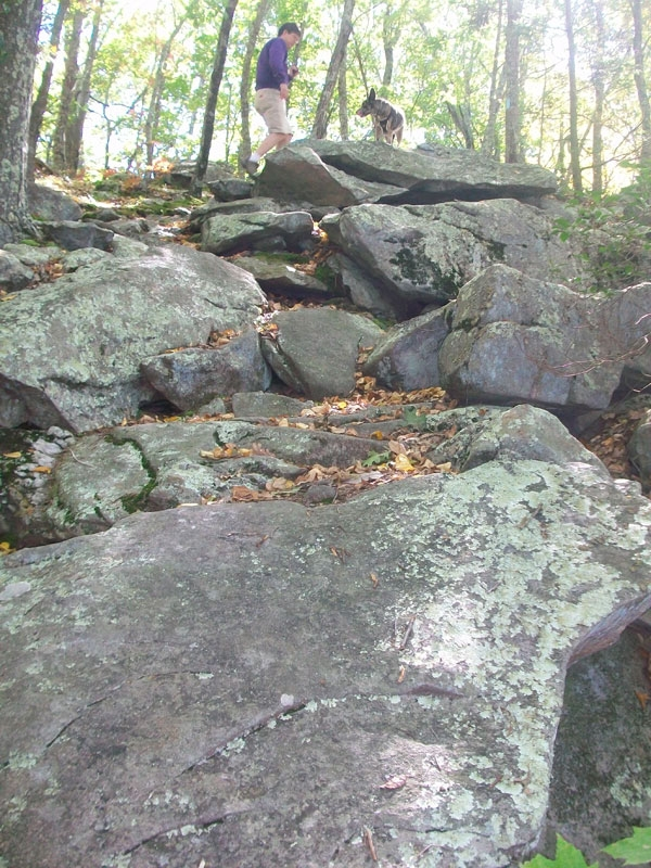 Sections of the trail are very rocky.