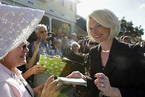 The well-coiffed Callista Gingrich
