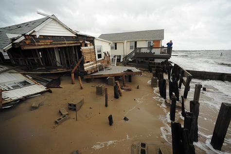 A summer home in the Chalker Beach section of Old Saybrook owned by Jeff Ratner of Avon was among the structures destroyed in Hurricane Sandy.