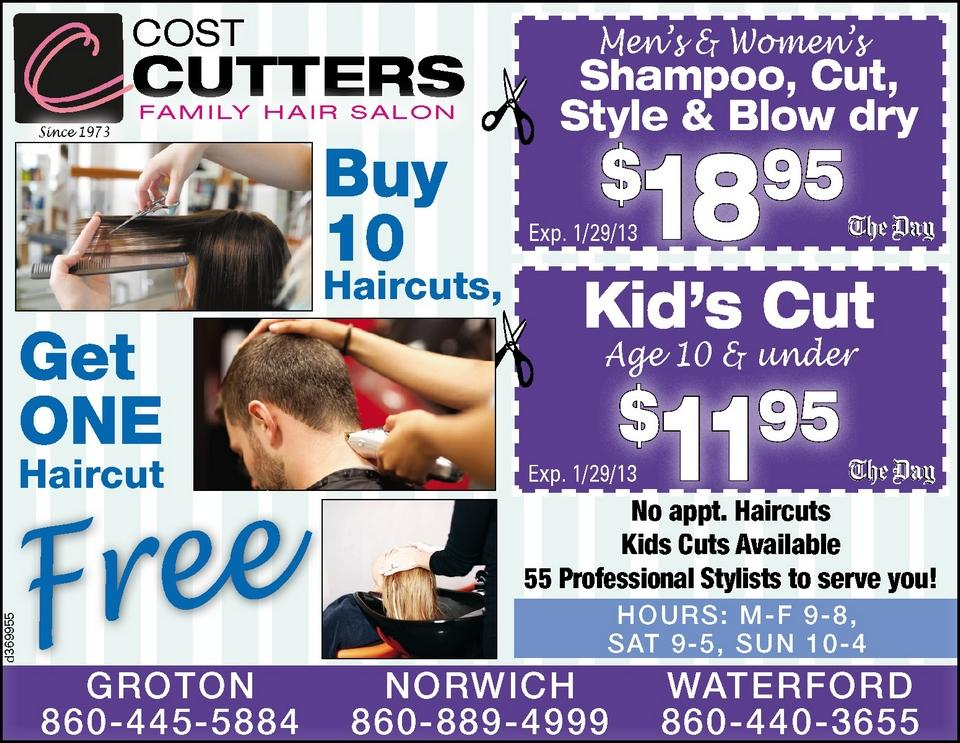 COST CUTTERS FAMILY HAIR,   Ad Number: d00369955,  Publication Date: 12/26/2012
