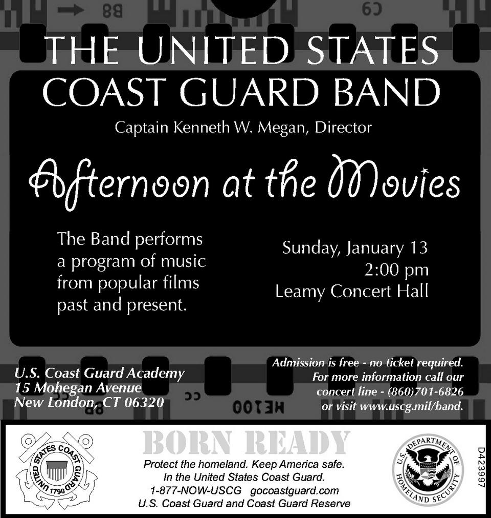 US COAST GUARD BAND,    Ad Number: d00423997,   Publication Date: 01/10/2013
