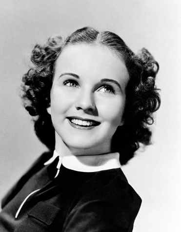Singer and film actress Deanna Durbin, in 1937.