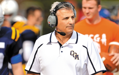Bill George became Coast Guard Academy's career leader in coaching wins (49) after the Bears routed Maine Maritime 40-0 Saturday.