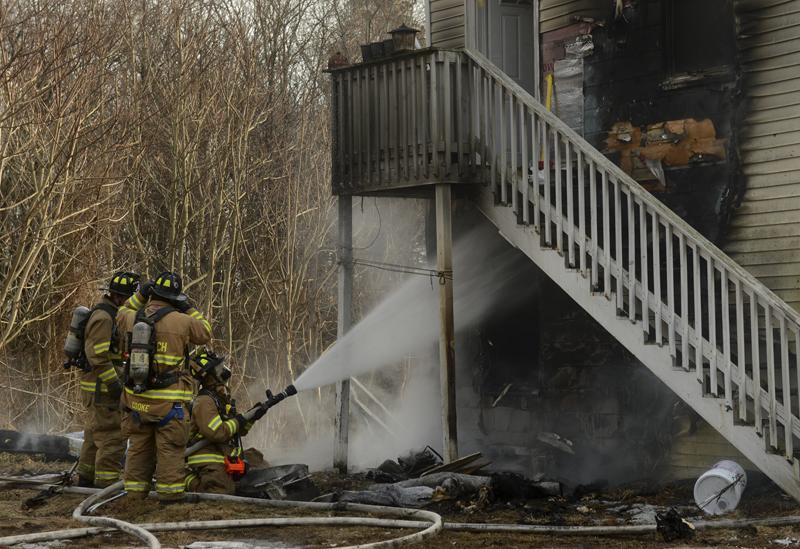 Firefighters battled a blaze at 267 Boswell Ave. in Norwich Saturday afternoon.