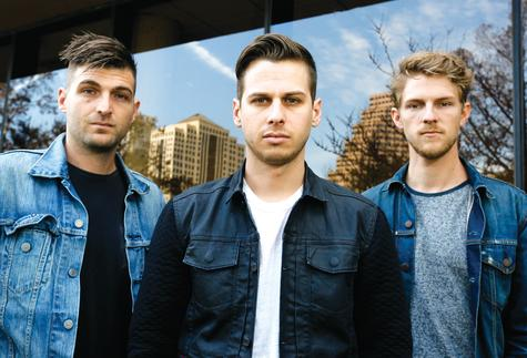 Foster The People's Cubbie Fink, Mark Foster and Mark Pontius, from left, during the SXSW Music Festival on March 13 in Austin, Texas.