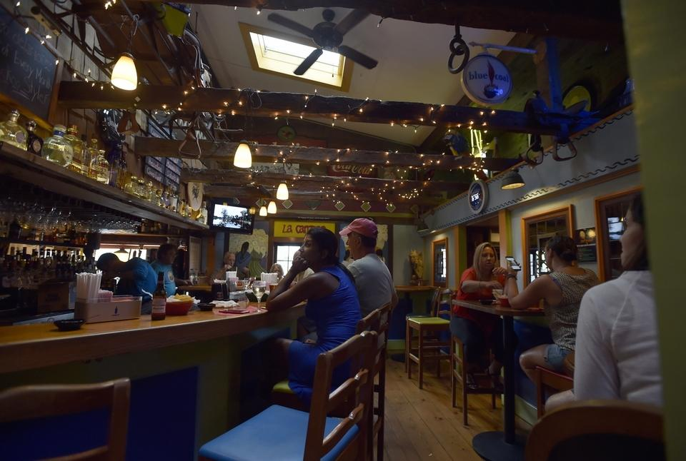 One of the bars in the Cuckoo's Nest restaurant on Boston Post Road in Old Saybrook, which will celebrates its 40th anniversary in August. (Tim Martin/The Day)