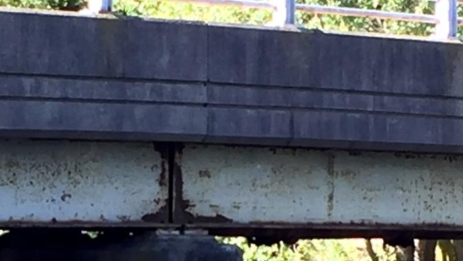 The state of Connecticut has informed the Town of Stonington that the rusting Stillman Avenue bridge is rated in serious condition and needs to be repaired or replaced. (Joe Wojtas/The Day)
