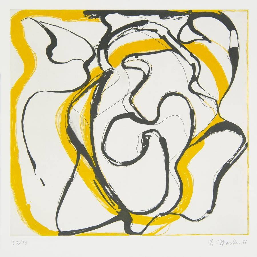 Brice Marden, Untitled, etching and aquatint, from the portfolio Couples, Parasol Press, 1996. (Photo courtesy of R.J. Phil)