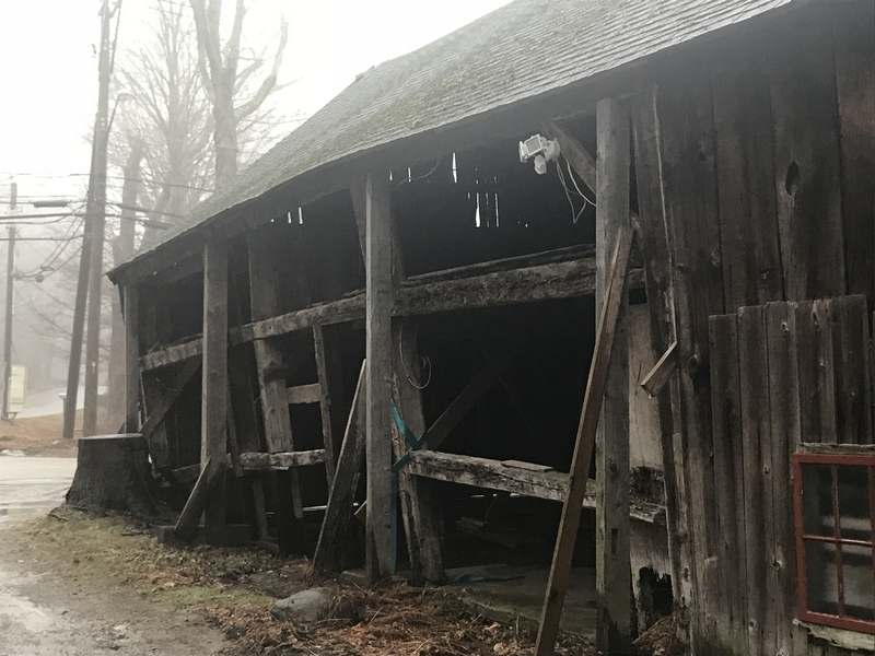 The barn at the Palmer-Warner House, which is in the care of Connecticut Landmarks, as it appeared Sunday, Feb 11, 2018, in East Haddam. (David Collins/The Day)