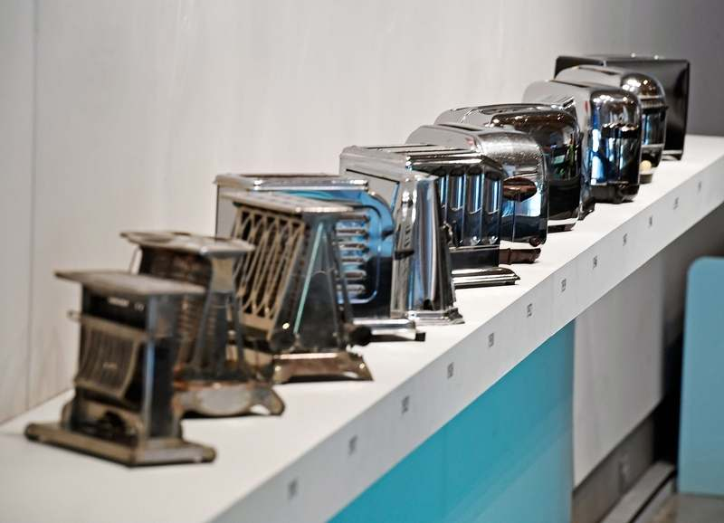 Electric toasters went from primitive to streamlined to ordinary over the course of a few decades. (Sean D. Elliot/The Day)