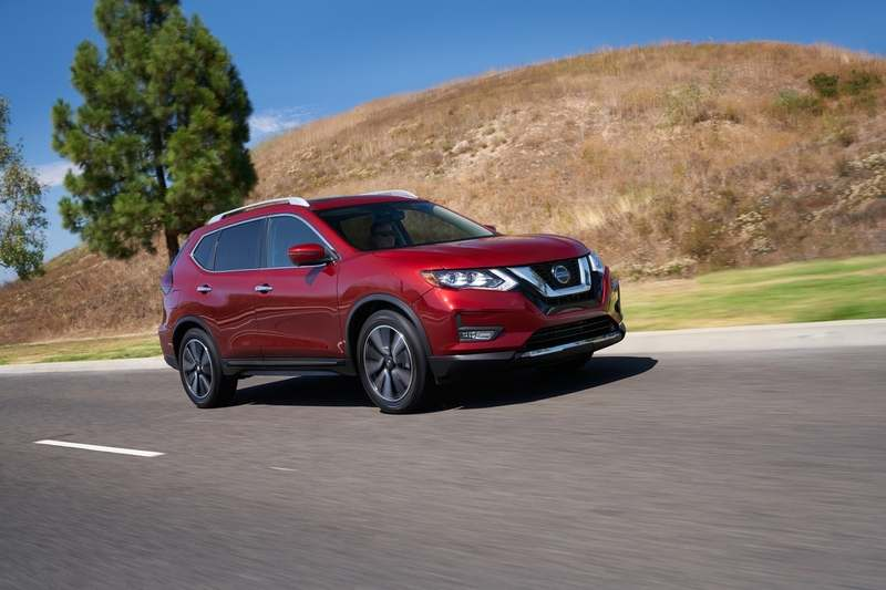 Nissan Rogue highlights include body-color heated outside mirrors with available integrated turn signals, a rear spoiler, privacy glass and roof rails. (Mike Ditz/Nissan Motor Corporation/TNS)