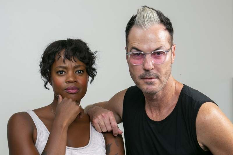 Noelle Scaggs, left, and Michael Fitzpatrick, members of the pop band Fitz and the Tantrums (Willy Sanjuan, Invision/AP)
