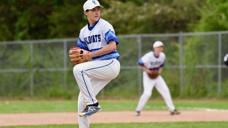 Liam Flanagan, a senior pitcher/catcher for the Old Lyme High School baseball team, will attend the University of New Haven and major in criminal justice. The right-hander's best pitch is a curveball. (Photo courtesy of Liam Flanagan)