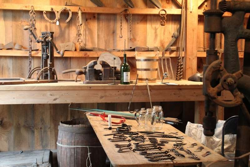 Items made at the Waterford Historical Society forge will be available for sale Saturday and Sunday at