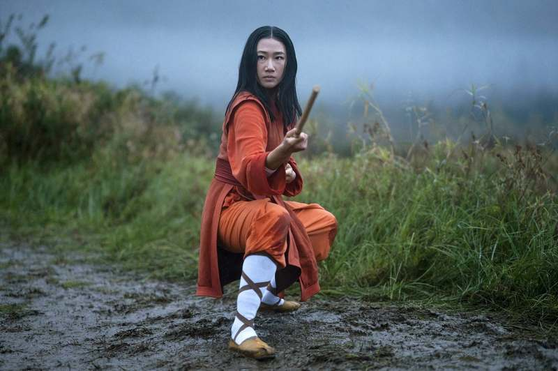This image released by The CW shows Olivia Liang as Nicky Shen in a scene from 'Kung Fu.' (Kailey Schwerman/The CW via AP)